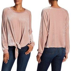 Tops - Pink Oversized Plush Slouchy Velvet Velour Shirt
